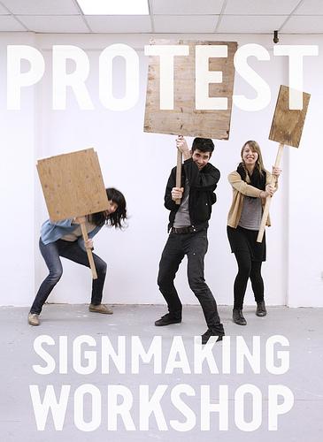 protest signmaking workshop 1.07.11