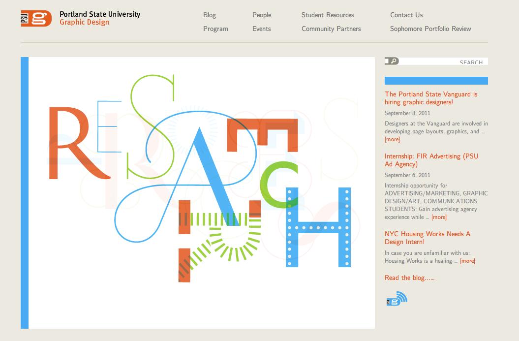Command Save Portland State University Graphic Design